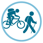 Access by bicycle or on foot