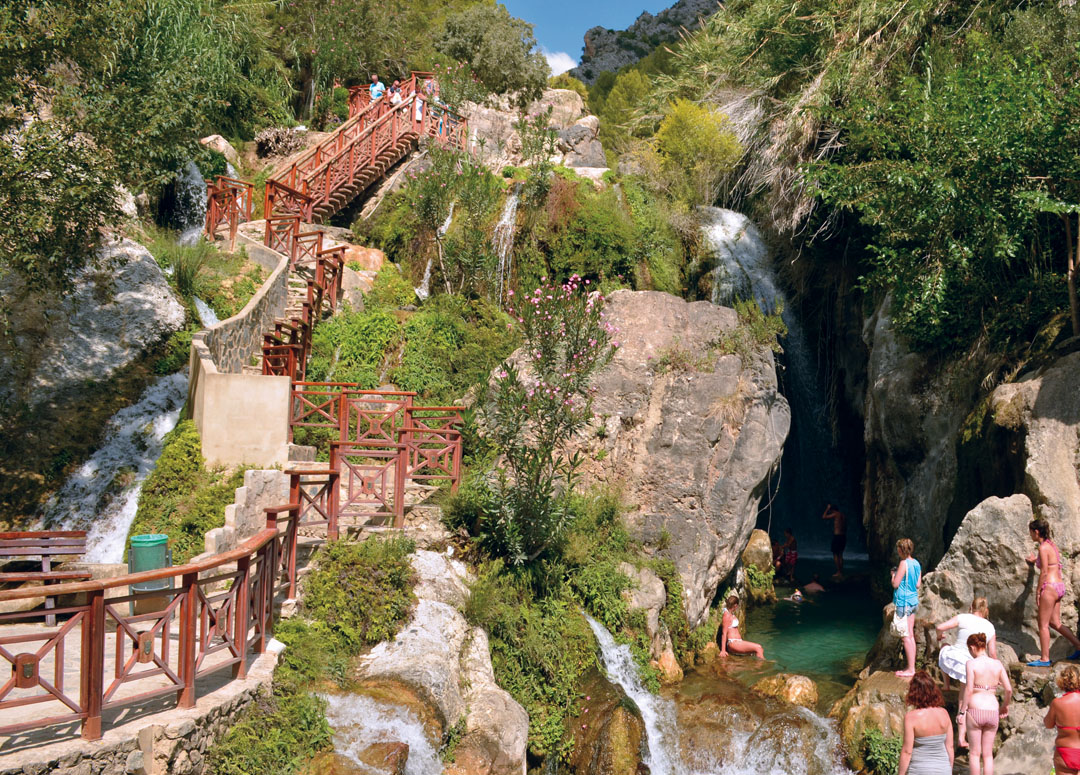 View of the Main Waterfall (Toll de la Caldera) of the Fuentes del Algar
